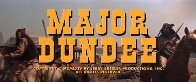 Major Dundee title screen