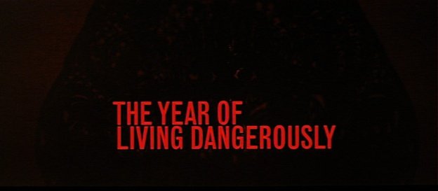The Year Of Living Dangerously title screen