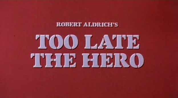 Too Late The Hero title screen