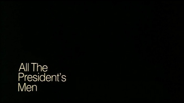 All The President's Men title screen