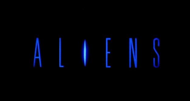 Aliens title screen