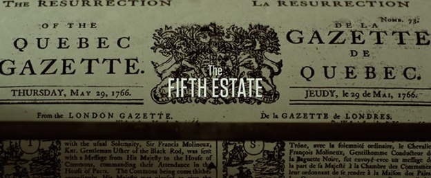 The Fifth Estate title screen