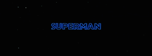 Superman: The Movie title screen