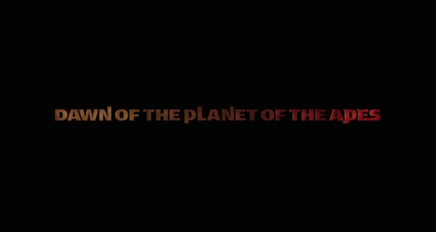 Dawn Of The Planet Of The Apes title screen