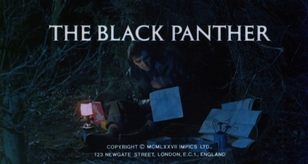 The Black Panther title screen