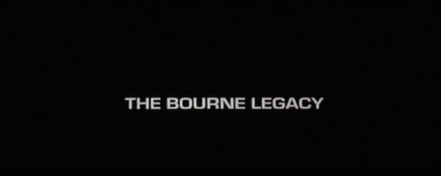 The Bourne Legacy title screen