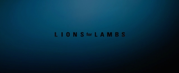 Lions For Lambs title screen