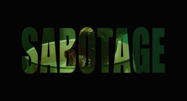 Sabotage (2014) title screen