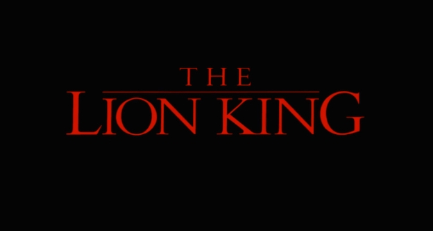 The Lion King title screen