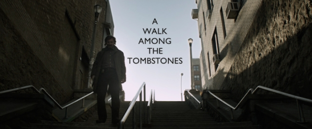 A Walk Among The Tombstones title screen