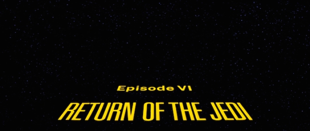 Return Of The Jedi title screen
