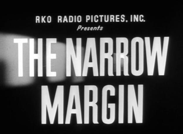 The Narrow Margin title screen