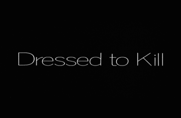 Dressed To Kill title screen