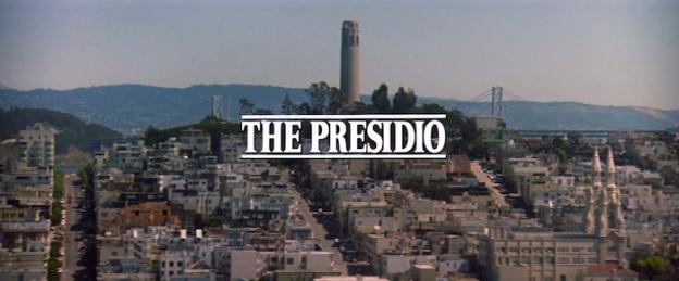 The Presidio title screen