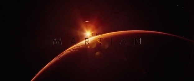 The Martian title screen