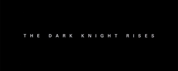 The Dark Knight Rises title screen