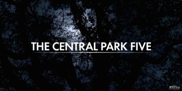 The Central Park Five title screen