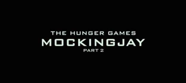The Hunger Games: Mockingjay – Part 2 title screen