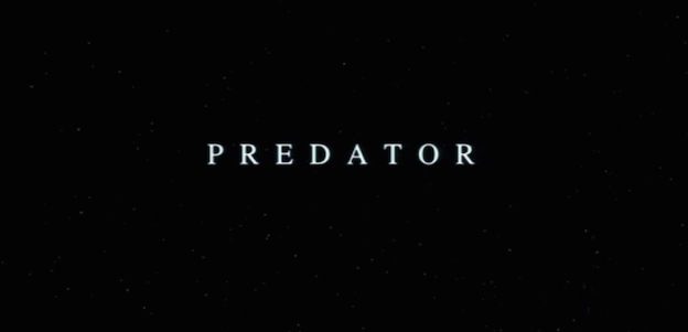 Predator title screen