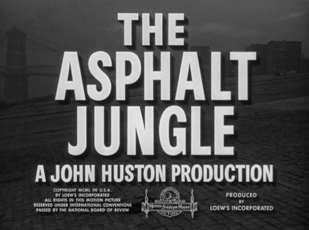 The Asphalt Jungle title screen