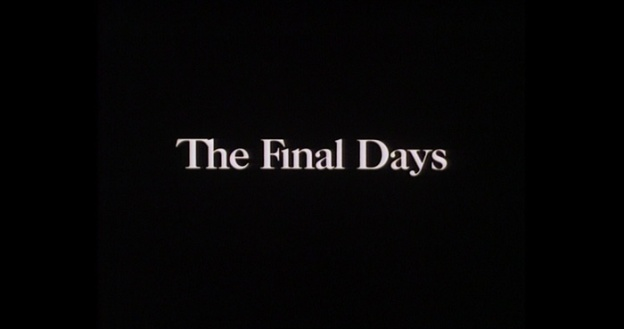 The Final Days title screen