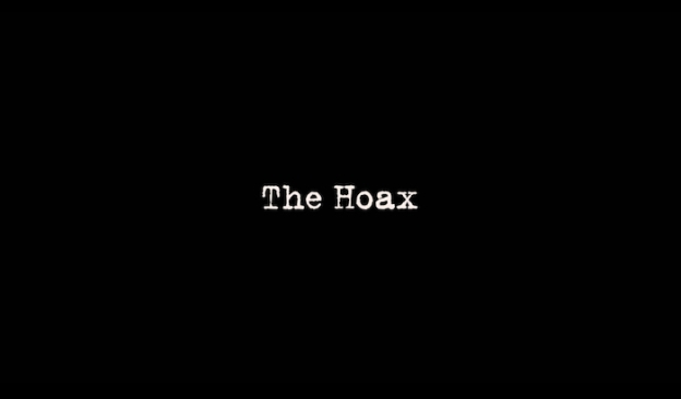 The Hoax title screen