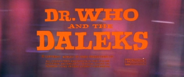 Dr. Who And The Daleks title screen