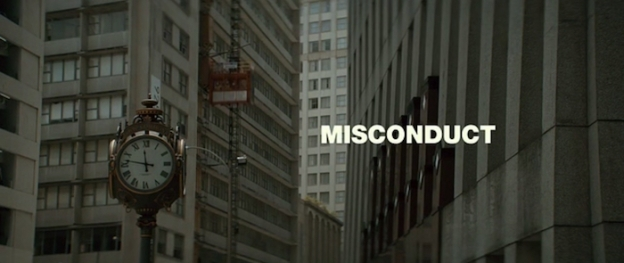 Misconduct title screen