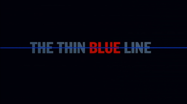 The Thin Blue Line title screen