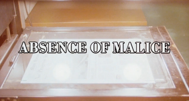 Absence Of Malice title screen