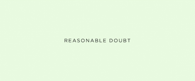 Reasonable Doubt title screen