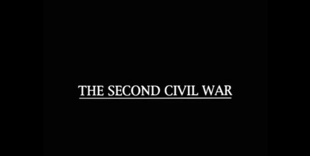 The Second Civil War title screen