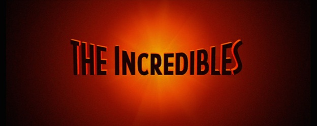 The Incredibles title screen