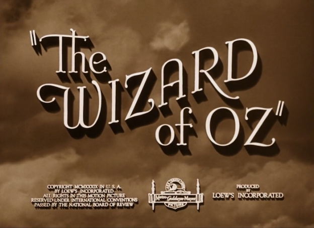 The Wizard Of Oz title screen