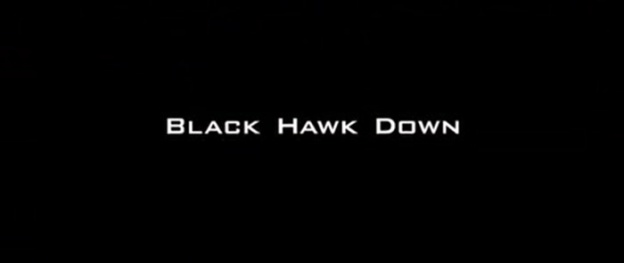 Black Hawk Down title screen