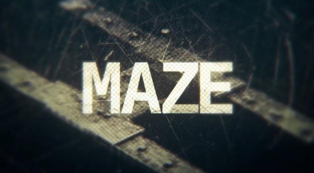 Maze title screen