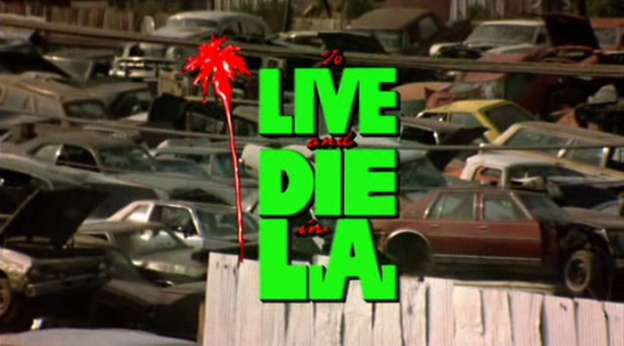 To Live And Die In L.A. title screen