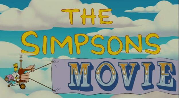The Simpsons Movie title screen