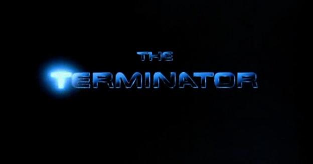 The Terminator title screen