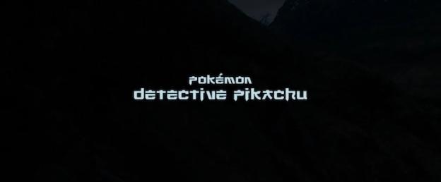 Pokémon Detective Pikachu title screen
