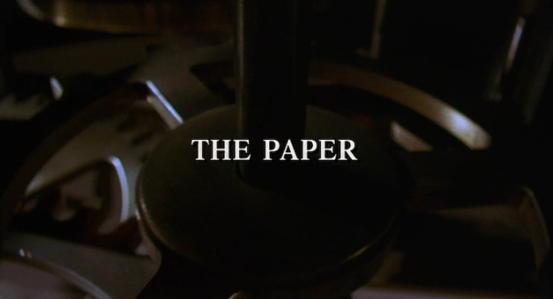 The Paper title screen