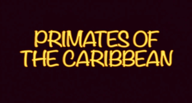 Primates Of The Caribbean title screen