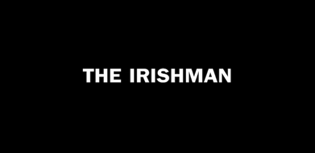 The Irishman title screen