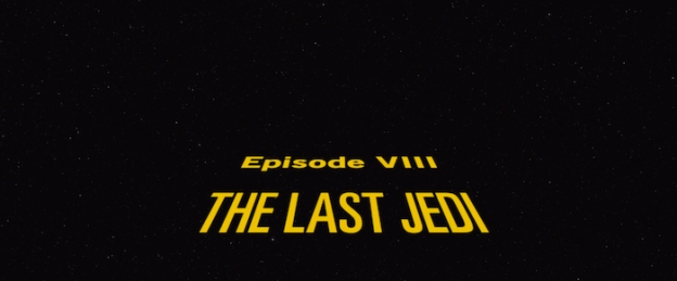 Star Wars: Episode VIII – The Last Jedi title screen