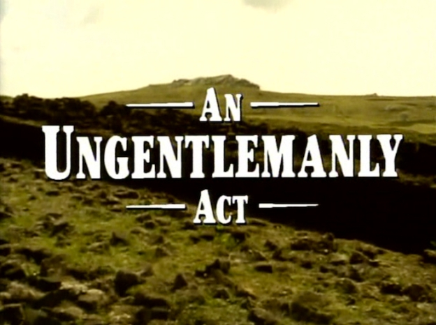 An Ungentlemanly Act title screen