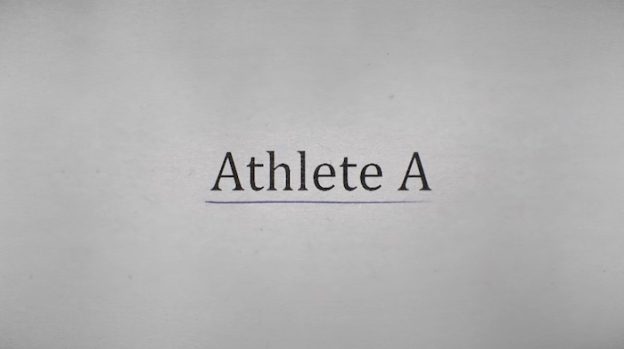 Athlete A title screen